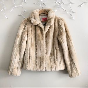 Juicy Couture Fawn Faux Fur Petite Coat preowned